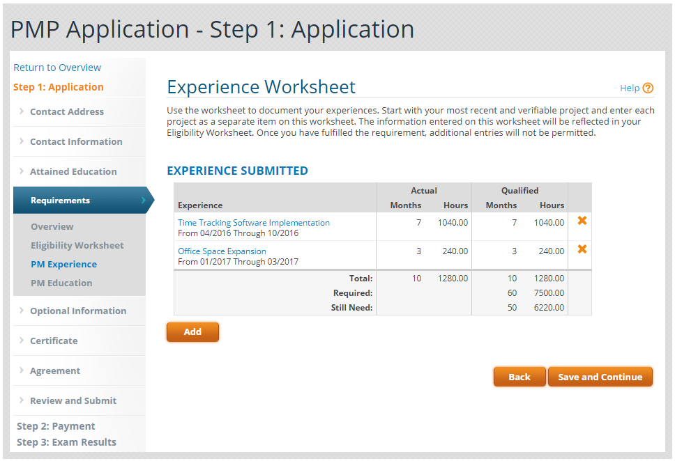 The Pmp Application Documenting Your Experience Project Vanguards